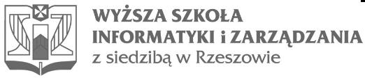 Wyższa Szkoła Informatyki i zarządzania z siedzibą w Rzeszowie